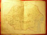 Harta veche Romania - Miniera - gravor K.Dufka ,Inst.Cartografic Unirea Brasov