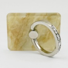 Suport telefon Diamonds tip inel metalic model Sand Marble