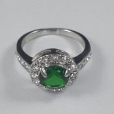 Inel Crystal Green