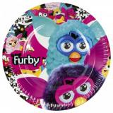 Farfurii petrecere copii 23 cm Furby, Amscan 552456, Set 8 buc