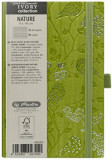 Bloc Notes Ivory Nature, 192 pagini, dictando, coperta PU, verde, motiv Robin, Herlitz