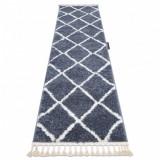 Covorul, Traversa BERBER CROSS gri — pentru bucătărie, hol și coridor, 70x300 cm