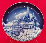 Farfurie decorativa de portelan Kobalt Bavaria 2+1 gratis