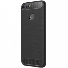 Husa HUAWEI P Smart - Luxury Carbon TSS, Negru