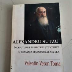 ALEXANDRU SUTZU - VALENTIN VERON TOMA - DEDICATIE , AUTOGRAF