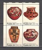 S.U.A.1977 Arta populara  bloc 4  SS.257, Nestampilat