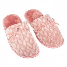 Papuci imblaniti de dama, model cu fundite, marime 40-41, roz