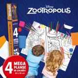 Zootropolis. Lumea magică a culorilor. 4 megaplanșe de colorat. 69 x 99 cm