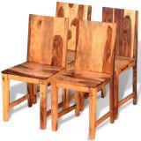 Scaune de bucătărie 4 buc, lemn masiv de sheesham