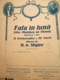 Partitura Fata in luna/ Das Maedchen im Mond, muzica Stigler, opereta in 3 acte