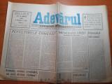 ziarul adevarul 29 martie 1990-armata,eroina revolutiei,sa nu-i devina victima !