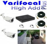 Cumpara ieftin Kit Supraveghere Video parcare auto 2 camere full hd 2MP varifocale 40m infrarosu, DVR 4 canale