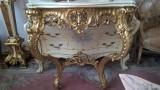 consola stil baroc/rococo/Ludovic,veche,sec 19,lemn,foita,raritate