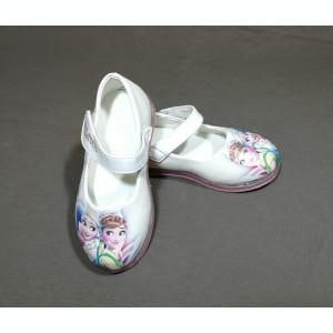 Balerini / sandale  led  Frozen - Ana si Elsa - alb