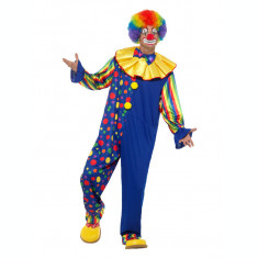 Costum de clown multicolor pentru adulti