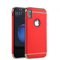 Husa Apple iPhone X, Elegance Luxury 3in1 Rosu, MyStyle
