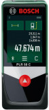Telemetru cu laser Bosch PLR 50 C, 50 m, Bluetooth, display 2.4inch touch-screen, ± 2 mm precizie, functie nivela