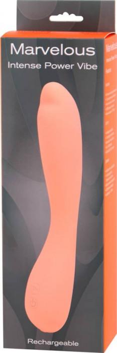 Vibrator Marvelous Intense Power Vibe, Roz, 21 cm