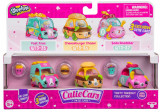 Set 3 masinute Tasty Takeout cu 3 figurine Shopkins Cutie Cars