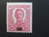 Romania 1918 - Ocupatia Austro-Ungara in Romania, valoarea 80 BANI, nestampilat.