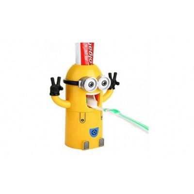 Dozator pasta de dinti si suport periute Minion foto