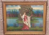 tablou vechi taranesc de colectie - Ileana Cosanzeana