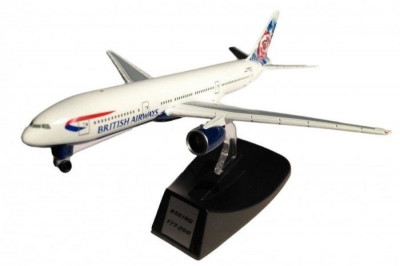 Macheta avion Boeing 777-200 British Airways  scara 1:500 foto