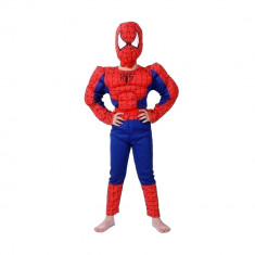 Costum Clasic Spiderman cu muschi 7 9 ani 120 130 cm