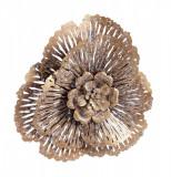 Decoratiune din metal auriu vintage pentru perete Azhira Ø 36.5 cm x 6 cm Elegant DecoLux, Bizzotto