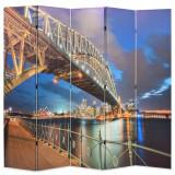 Paravan de cameră pliabil, 200 x 170 cm, Sydney Harbour Bridge, vidaXL