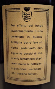 A10 - VIN CHIANTI DOC, FATTORIA PIEVE A PITIANA, recoltare 1978 cl 75 gr 13,2