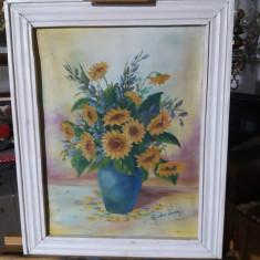 Tablou ulei pe panza  - Vaza cu flori, Realism