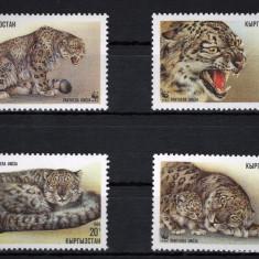 Kirgizstan 1994 - Fauna WWF, serie neuzata