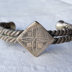 BRATARA argint TUAREGA TRIBALA vintage REGLABILA de efect VECHE splendida MASIVA