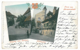4287 - SIBIU, Litho, Romania - old postcard - used - 1900