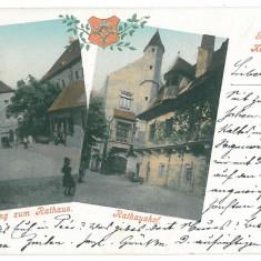 4287 - SIBIU, Litho, Romania - old postcard - used - 1900, Circulata, Printata
