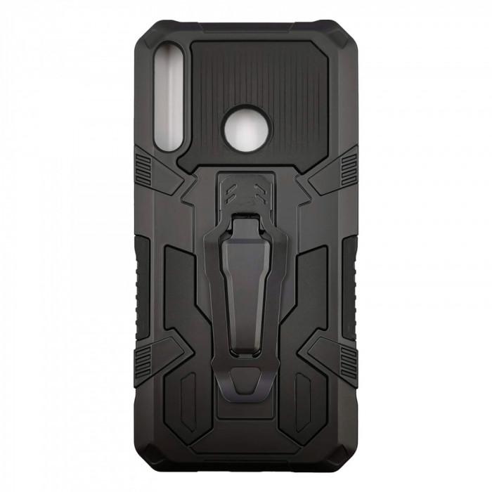Husa Huawei P40 Lite E model Dual Thunder Armor cu Suport , Antisoc, Silicon+PC, Viceversa