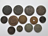 Lot, monede vechi: Spania, Franta, Rusia, Antile Olandeze, Serbia 1867-1945