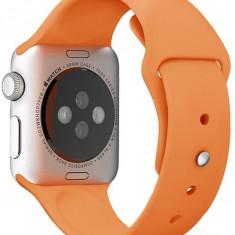 Curea pentru Apple Watch 38 mm Silicon iUni Orange