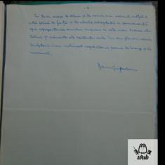 Manuscris/ Articol scris si semnat de Dan Grigorescu - 6 pag