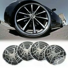 Set 4 buc. ornament metalic capac janta aliaj (55mm) - SPIDER