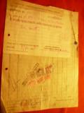 Factura Antet - Soc.Continentala- Comertul Fierului + chitanta 1943 Ploiesti ,6t