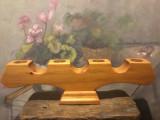 Design / Arta / Lumanari - Sfesnic deosebit din lemn cu 4 brate !