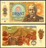 Bancnota Cehoslovacia 10 coroane 1986