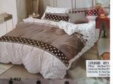 Lenjerie de pat pentru 2 persoane ,,Corina'', 6 PIESE , finet gros 100%, 240x250 cm, Set complet, Ralex