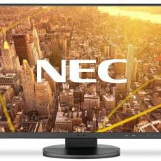 Monitor IPS LED NEC 23.8inch EA241F, Full HD (1920 x 1080), VGA, DVI, HDMI, DisplayPort, Boxe, Pivot (Negru)