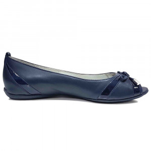 Balerini dama, din piele naturala, marca Geox, D42Y7B-42-06, bleumarin , marime: 38
