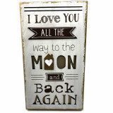Cumpara ieftin Tablou motivational mare I Love YOU ALL THE way to the MOON and back AGAIN