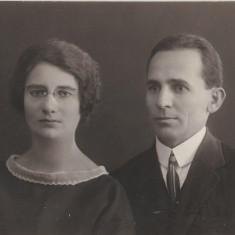Fotografie portret doamna pince nez poza veche