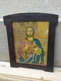Litografie veche Isus Christos